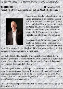 Spectacle à Turretot (76) le 15 octobre 2011