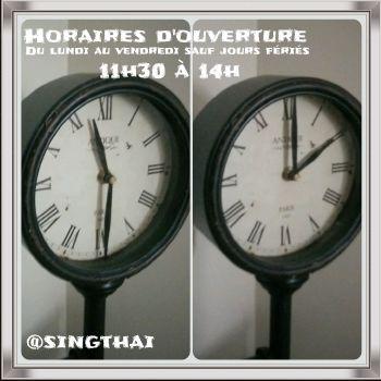 singthai traiteur lao horaires