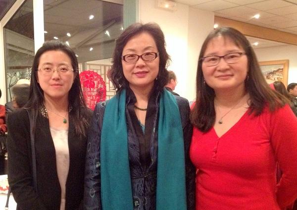 avec la délégation de Shanghai