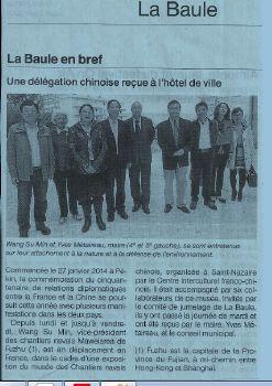 délégation chinoise de Fuzhou reçu à La Baule