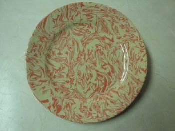 poterie marbrée rouge