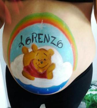 Belly painting lorenzo