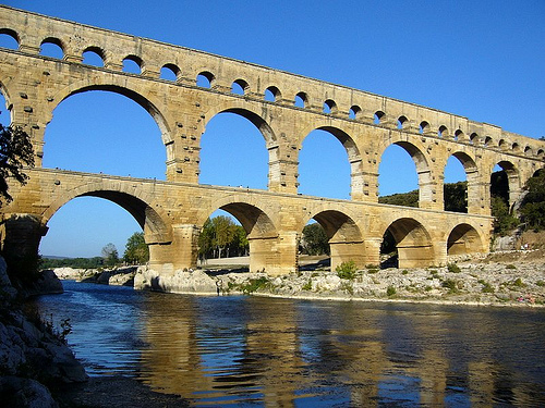 excursion en Provence. Prouesse technique romaine :Pont Du Gard