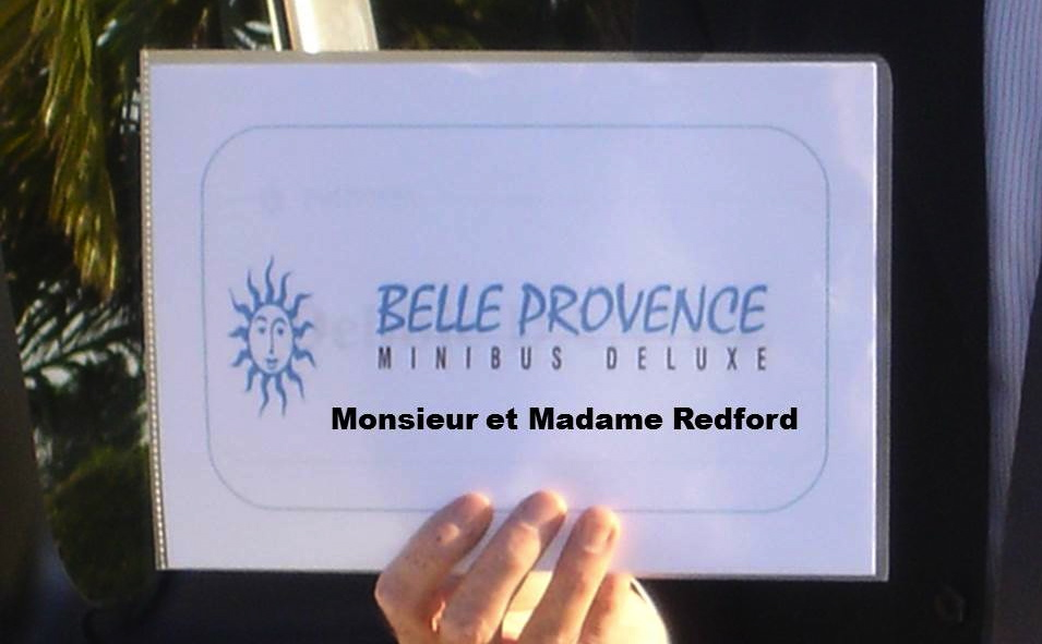 Personalized welcome by BelleProvence Minibus Deluxe