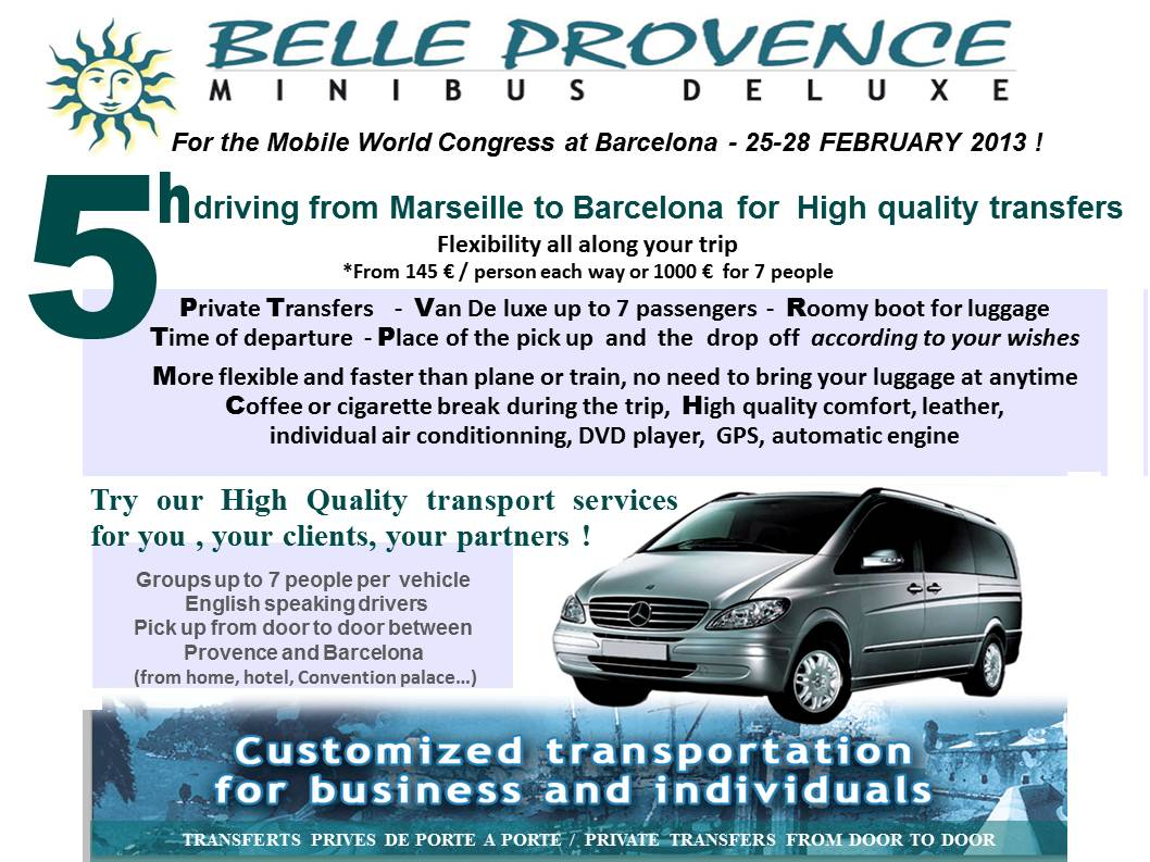 Long Transfers Marseille Barcelona for the Mobile World Congress